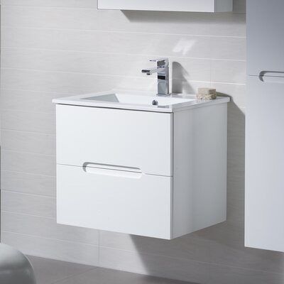Elton 24 Single Vanity Set Base Finish: Metal Gray