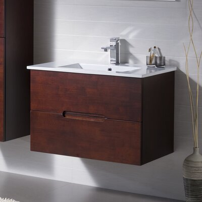 Elton 32 Single Vanity Set Base Finish: Dark Walnut