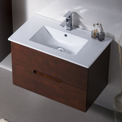 Elton 40 Single Vanity Set Base Finish: Espresso