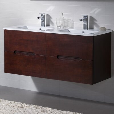 Elton 47.75 Double Bathroom Vanity Set Base Finish: Metal Gray