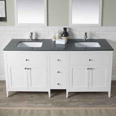 Watson 72 Double Bathroom Vanity Set Top Finish: Gray
