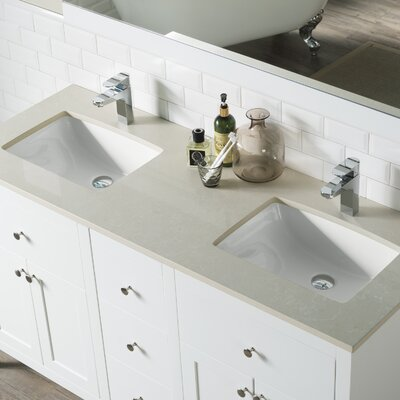 Watson 72 Double Bathroom Vanity Set Top Finish: Beige