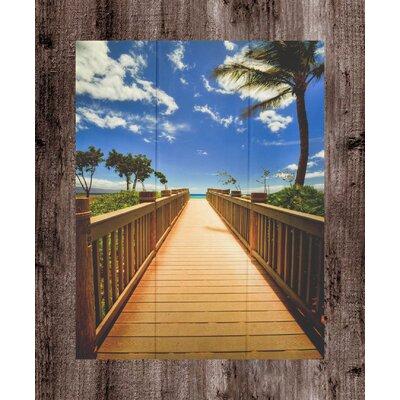 'Maui Boardwalk' Photographic Print on Wood Size: 14