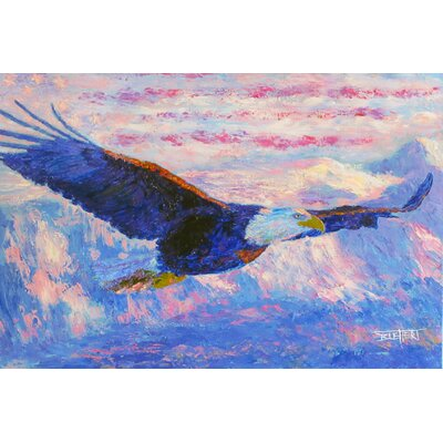 'Freedom Bald Eagle' Acrylic Painting Print on Canvas Size: 16