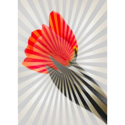 'Tulip Splash' Graphic Art Print on Canvas Size: 24
