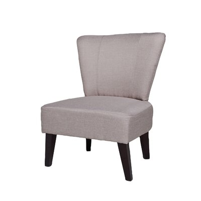 Alice Fabric Slipper Chair Upholstery: Beige