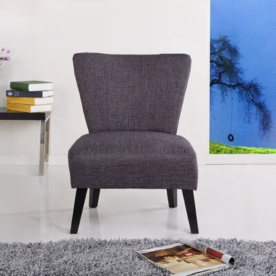 Alice Fabric Slipper Chair Upholstery: Grey