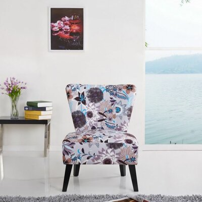 Cora Patterned Fabric Slipper Chair