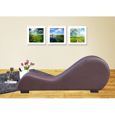 Yoga Chaise Lounge Color: Chocolate