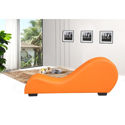 Yoga Chaise Lounge Color: Orange