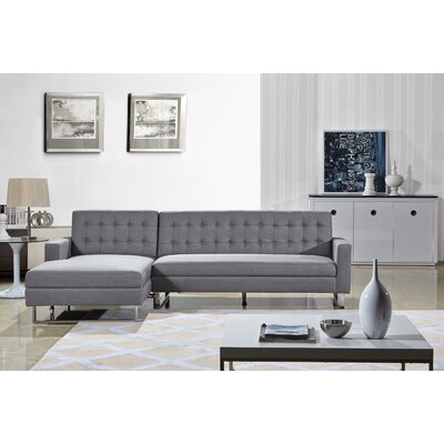 Dorris Sectional Upholstery: Grey, Orientation: Left Hand Facing