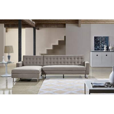 Dorris Sectional Upholstery: Brown, Orientation: Left Hand Facing