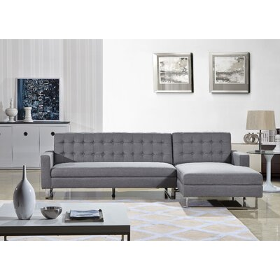 Dorris Sectional Upholstery: Grey, Orientation: Right Hand Facing
