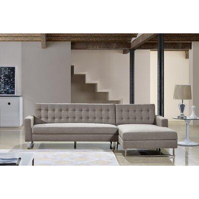 Dorris Sectional Upholstery: Brown, Orientation: Right Hand Facing