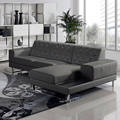 Stella Sectional Orientation: Right Hand Facing, Upholstery: Gray