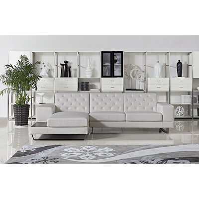Stella Sectional Orientation: Left Hand Facing, Upholstery: White