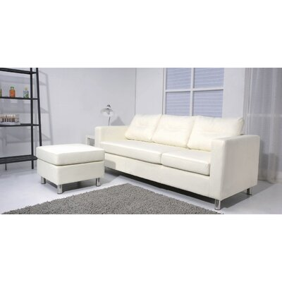 Dona Reversible Sectional Upholstery: White