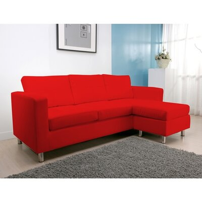 Dona Reversible Sectional Upholstery: Red