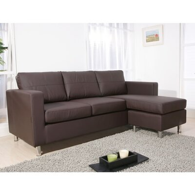 Dona Reversible Sectional Upholstery: Chocolate