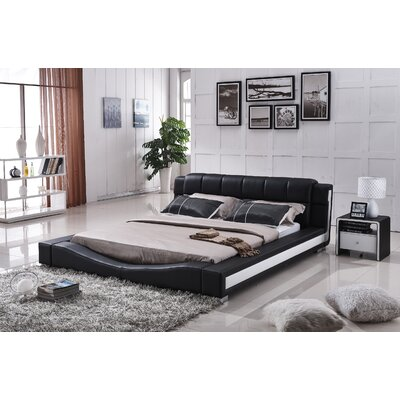 Upholstered Platform Bed Size: East King