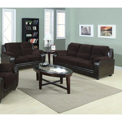 Gilberte 2 Piece Living Room Set Upholstery: Chocolate