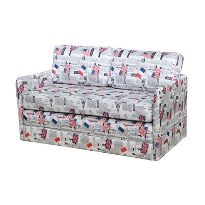 S5078 CNTA1114 Container Kathy Reversible Foam Print Sleeper Loveseat