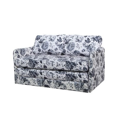 Kathy Reversible Flower Sleeper Loveseat