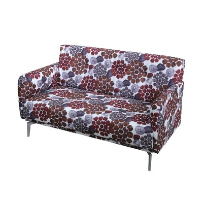 Pattern Print Fabric Modern Loveseat Upholstery: Red