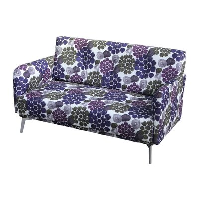 Pattern Print Fabric Modern Loveseat Upholstery: Purple