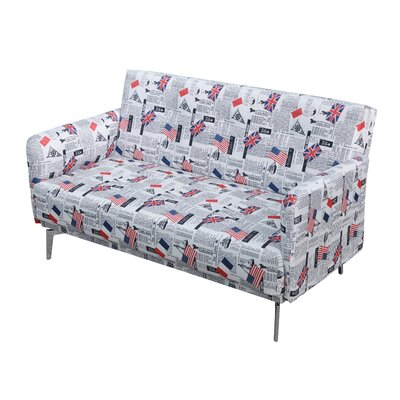Container S5077 Emma Flag Print Fabric Modern Loveseat