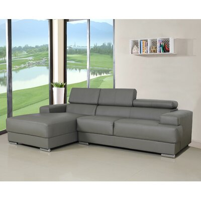 Rainbeau Sectional Upholstery: Grey, Orientation: Left Hand Facing