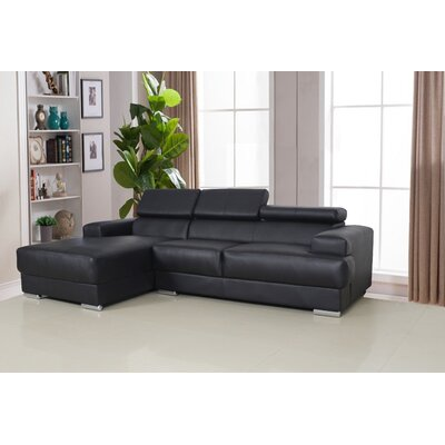 Sectional Upholstery: Black, Orientation: Left Hand Facing