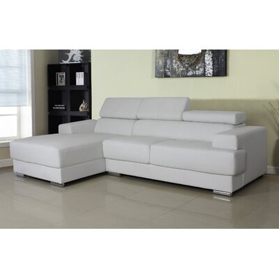 Rainbeau Sectional Upholstery: White, Orientation: Left Hand Facing