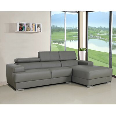 Rainbeau Sectional Upholstery: Grey, Orientation: Right Hand Facing