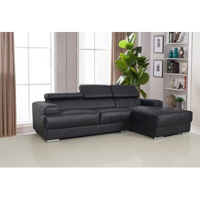 Rainbeau Sectional Upholstery: Black, Orientation: Right Hand Facing