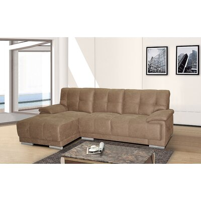 Sectional Upholstery: Brown, Orientation: Left Hand Facing