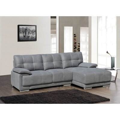 Sectional Orientation: Right Hand Facing, Upholstery: Gray