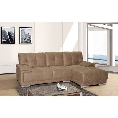 Sectional Upholstery: Brown, Orientation: Right Hand Facing