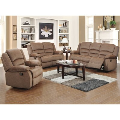 Container S6023-3PC 3 Piece Recliner Sofa Set Upholstery