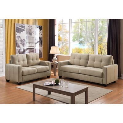 Sofa and Loveseat Set Upholstery: Beige
