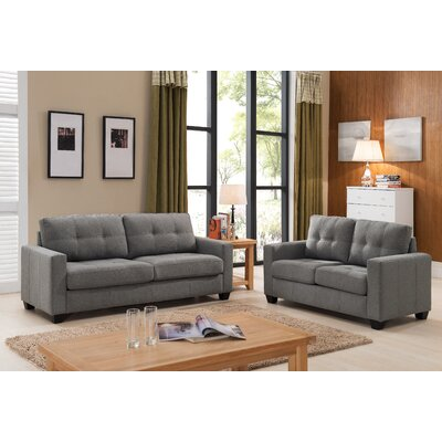 Container S5092-2PC Sofa and Loveseat Set Upholstery