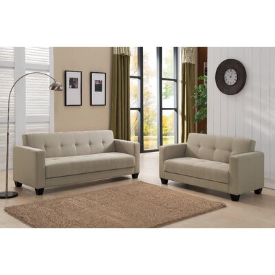 Container S5096-2PC Sofa and Loveseat Set Upholstery