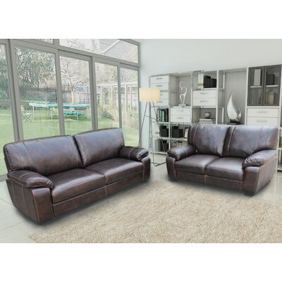 Container S5091-2PC Sofa and Loveseat Set Upholstery