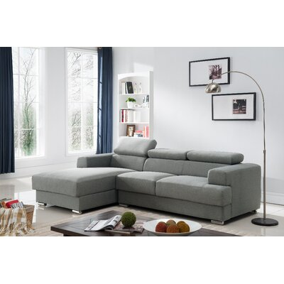 Sectional Upholstery: Grey, Orientation: Left Hand Facing