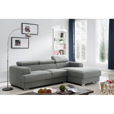 Sectional Upholstery: Grey, Orientation: Right Hand Facing