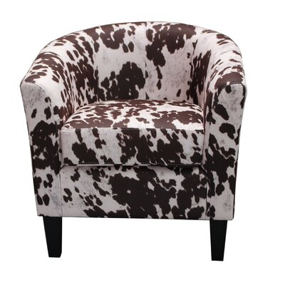 Cow Spot Print Barrel Chair