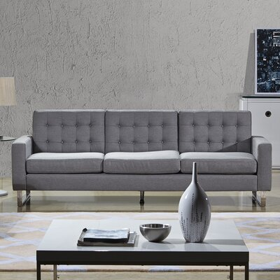 Angela 3 Piece Living Room Set Color: Grey