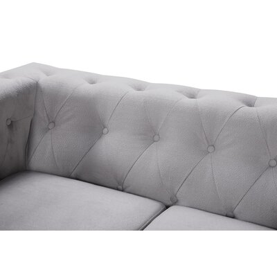 Obscure 2 Pieces Sofa and Loveseat Set Color: Gray