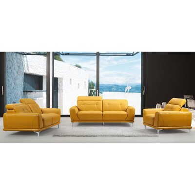 3 Piece Living Room Set Color: Gold