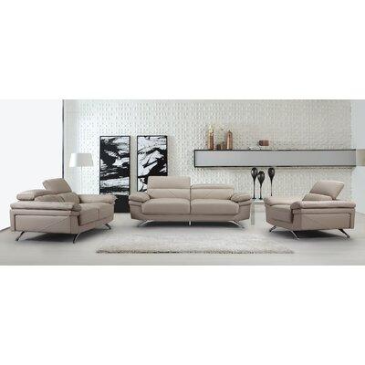 Living Room Set 3 Piece Living Room Set Color: Light Gray